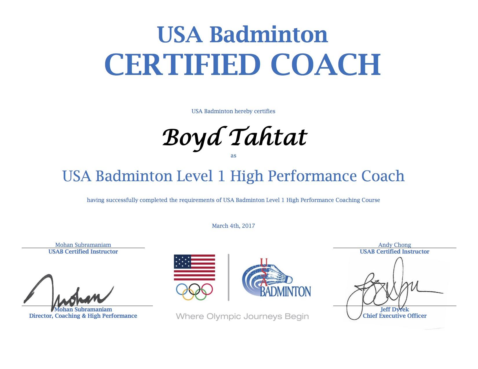 USAB HP 1 Certificate - Boyd Tahtat-1